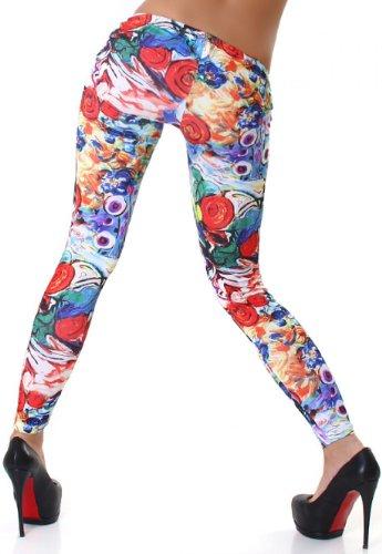Jela London Damen Leggings mit buntem Muster - 3