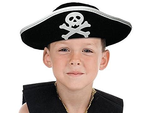 Sport Thèmes Costume Idées - Chapeau de pirate noir et blanc accéssoire