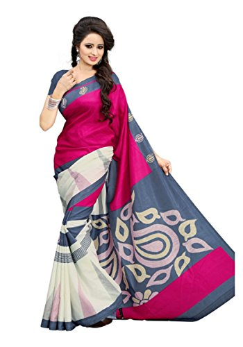 Sarees (Woman`s Clothing Saree For Woman Latest Desigen Wear Sarees Collection In Multi Colour Art Silk Material Latest Sarees With Designer Blouuse Free Size Beautiful Bollywood Sarees For Woman Part