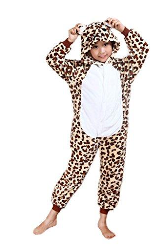 Auspicious beginning Leopardo Pijama de los Cabritos del Traje de Cosplay Animal Onesie Sleepsuit Ropa de Dormir Ropa de casa Kigurumi Pijama