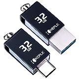 32GB Flash Drive Chiavetta Esterno USB C Photostick OTG Tipo C Compatibile con Samsung Galaxy Tab Pro S, S4 10.5 / S3 9.7, A 10.1 (2019) / A 10.5, S5e, Note 7 Tavoletta 32 GB Flashdrive Pen Memoria