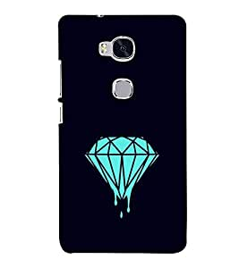 Melting Diamond 3D Hard Polycarbonate Designer Back Case Cover for Huawei Honor 5X :: Huawei Honor X5 :: Huawei Honor GR5