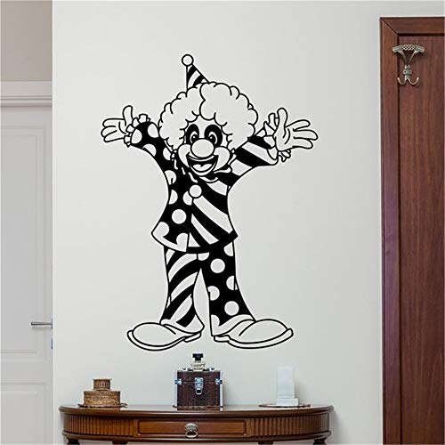 Wandtattoo Kinderzimmer Clown Zirkus Clown Jester Jongleur Karneval Positive Dekor Kinderzimmer Kinderzimmer Wand Kunst Wohnkultur (Positive-wand-kunst)