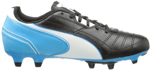 PumaMomentta FG Jr - Scarpe da Calcio Unisex – Bambini Giallo (nero-bianco-blu fluo 07)