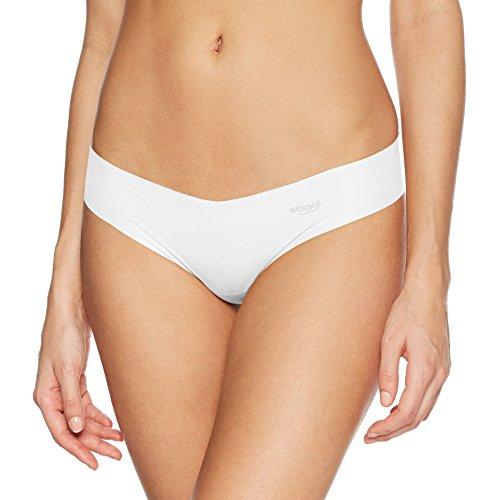 Sloggi Zero Modal HipString Weiß – Superbequemer Nahtloser Damen String mit Hohem hautfreundlichen Modal-Anteil - ultrafein & Ultraleicht – Größe M 40-42 (Thong Passform Nahtlose)