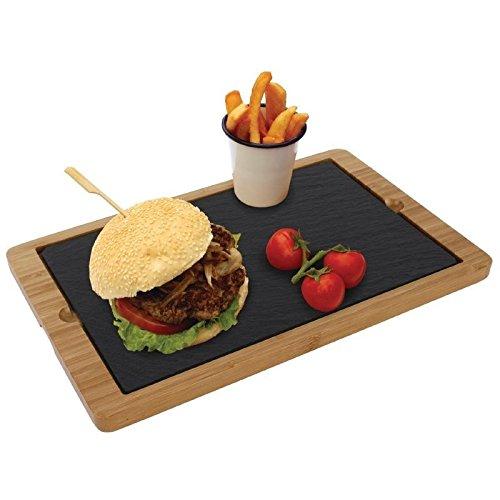 2x Olympia ardesia piatto per CM061vassoio 280x 180MM cucina buffet servire il cibo