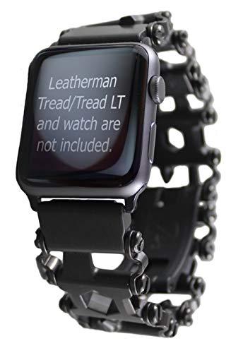 BestTechTool Kompatibel mit Leatherman-Edelstahl Adapter für Uhr mit Profilmuster (Apple-Uhr 44mm / 42mm, Tread LT)