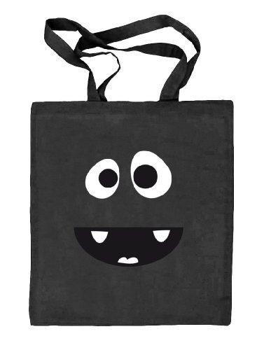 Tasche schwarz Stoffbeutel Karneval Fasching Jute Shirtstreet24 natur Kostüm MONSTER HIPPO qgwOn0RA