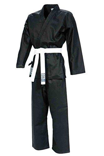 Gimer karate gi kimono, nero, 180 cm
