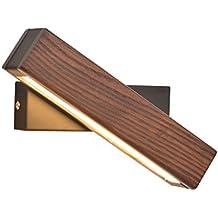 Taotao Tao Moderna Lámpara de Lectura LED Nórdica de Madera Sólida giratoria Lámpara de Pared con
