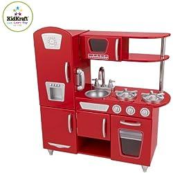 KidKraft - Cocina estilo retro, color roja (53173)