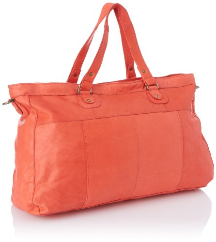 PIECES TOTALLY ROYAL LEATHER TRAVEL BAG13, Borsa a spalla donna Orange (Clear Coral)