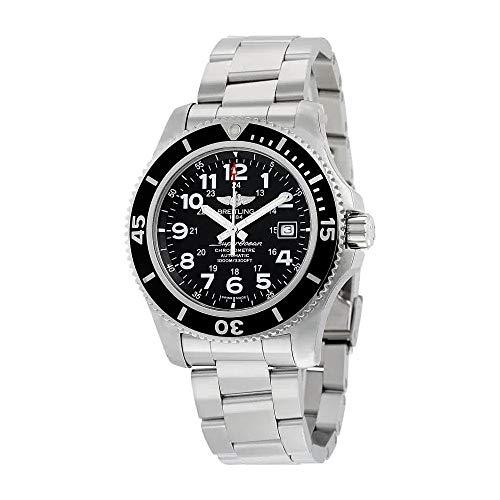 Breitling Superocean II 44volcán automático negro Dial acero inoxidable acero Mens reloj a17392d7/bd68