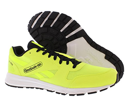 Reebok Classic UL 6000 Black White Mens Trainers Solar Yellow/Black/White