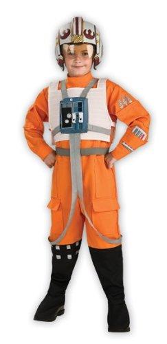 Original Lizenz Star Wars X-Wing Kostüm für Kinder Kinderkostüm Pilot Gleiter Gr. 116/122, 134/140, Größe:116/122