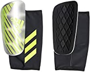 adidas Men's X PRO Shin Guards, Silver Metallic/Solar Yellow/White, X-L