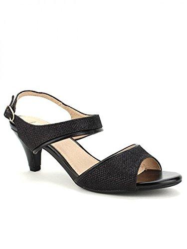 Cendriyon, Escarpin Noir BELLUCI Mode Chaussures Femme Noir