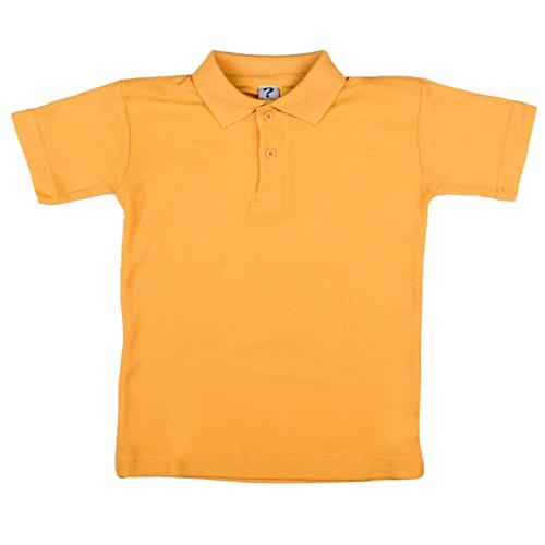 Neue OU Unisex Schuluniform Polo Shirt Sport Top Shirt verschiedene Farben Größen: 20-48 Gold - Gold