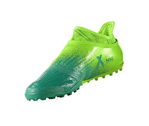 Adidas X Tango 16+ Pure Chaos Turf - Chaussures de Foot en Salle - Vert Solaire/Noir/Vert green