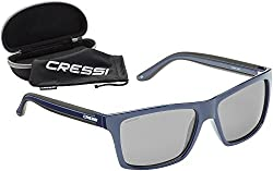 Cressi Unisex-Erwachsener Rio Sunglasses Sport Sonnenbrille Polarisiert und Antireflexion Sorgen für 100% igen Schutz vor UV-Strahlen, Blau/Linsen Hellgraue, Einheitsgröße