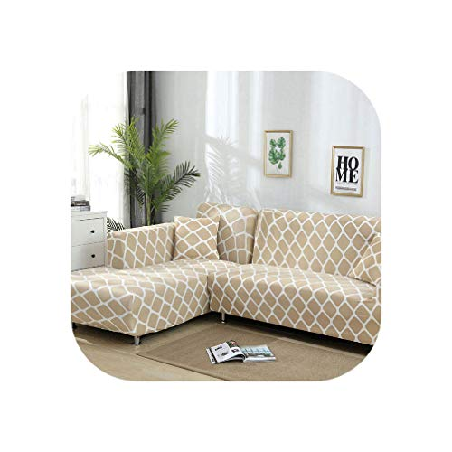 Heloise Richard Sofa-Abdeckung elastische Couch Abdeckung Sectional Stuhl-Abdeckung Es braucht Auftrag 2Pieces Sofa-Abdeckung, wenn Ihre Sofa-Ecke L-Form Sofa, Color12,2Seater und 2-Sitzer -