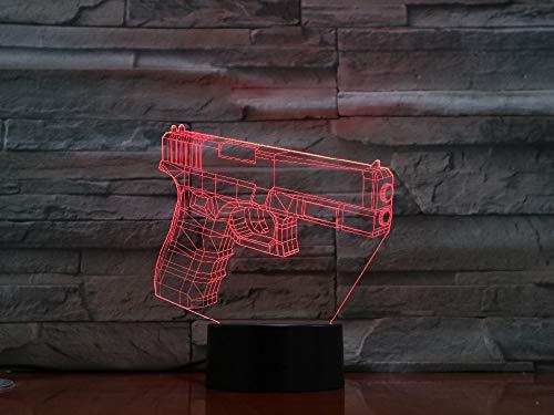 Neuheit 3D Lampe Optische Täuschung 7 Bunte Tischlampe Diy Led Nachtlicht Gravierte Acryl Nachtlicht Handwerk Kinder 3D Nachtlicht