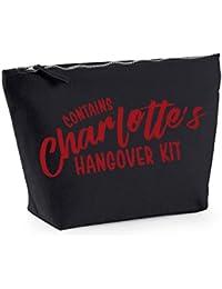 Hangover Kit - Personalised Name - Custom - Fun Slogan, Make Up and Cosmetics Bag, Accessory Organiser