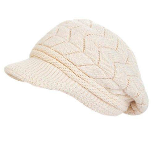 Molly Femme Chapeau Béret Tricot Pour Garder Au Chaud Bouchon Beige