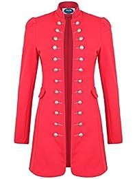 4tuality Military Coat Damen lang Blazer Slim Fit Gr. S - XXXL