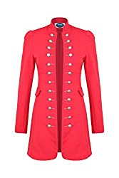 4tuality AO Massimo Military Coat Slim Fit Gr. S Rot