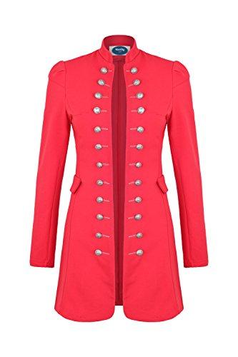 4tuality AO Massimo Military Coat Slim Fit Gr. XXXL Rot