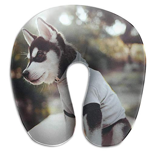 Nifdhkw Multifunctional Neck Pillow Puppy Husky U-Shaped Soft Pillows Portable for Sleeping Travel Unisex9