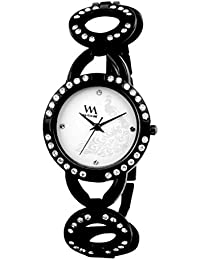 Watch Me Analog White Dial Stainless Steel Metal Strap Girls And Women's Watch WMAL-114zilla
