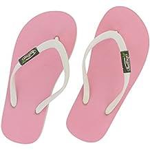 Feelfine'z: Jaipur bambini , rosa – bianco, Infradito originale Feelfine'z in caucciù naturale di bambini - taglie 31/32 al 35/36.