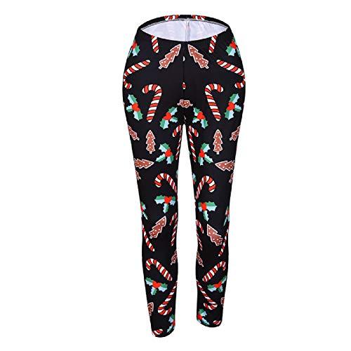 Barlingrock Frauen Weihnachten Print Stretched Leggings Strumpfhosen Sport Yoga Athletic Pants, Verschluss Falte über Taille Yogahosen, Trainingshose, Stretch Yoga Leggings -