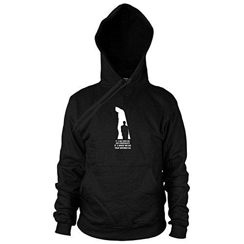 Definition of Dark - Herren Hooded Sweater, Größe: XL, Farbe: (Batman Collectors Knight Dark Kostüme)