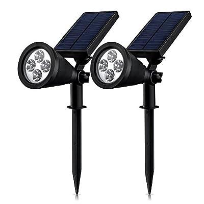[Upgraded 200 Lumens] Mpow Soleil P2 Waterproof LED Solar Spotlight Adjustable Landscape Light /Security Lighting/ Dark Sensing Auto On/Off for Backyards, Gardens, Lawn, etc