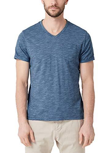 s.Oliver Herren 03.899.32.4583 T-Shirt, Blau (Midnight 57g1), Large (Herstellergröße: L) -