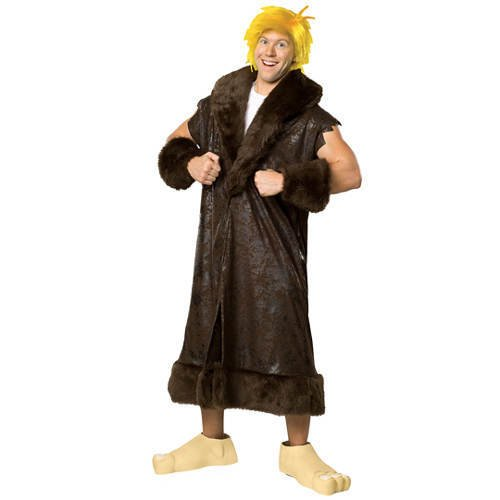 PARTY DISCOUNT Herren-Kostüm Barney Rubble (Betty Rubble Kostüme Für Erwachsene)