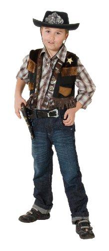 Sheriffweste Sheriff Weste Kostüm Cowboy Sheriffkostüm Cowboykostüm Gr. 104, 116, 128, 140, 152, 164, Größe:128 (Cowboy Weste Kostüm)