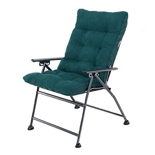WX Xin Klappstühle Klappstuhl, Computerstuhl, Büroloungesessel, Sofastuhl, Waschbar Faltbarer Mittagspause Nickerchen Haushaltsschlafzimmer Büro Strandkörbe (Farbe : Dark Green+Dark Green (Luxury))