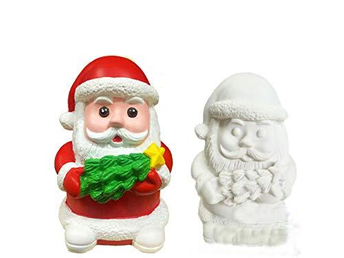 FOOBRTOPOO® - Hucha de Papá Noel para colorear muñecas de Navidad, para niños y adultos