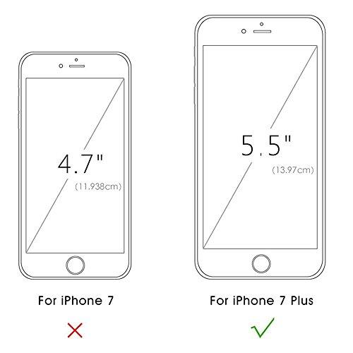 Custodia iPhone 6s Plus / 6 Plus, Cover iPhone 6s Plus / 6 Plus, Seacosmo Cover in pelle Supporto Stand, Porta Carte e Protettiva Flip Portafoglio Flip Case con Chiusura Magnetica per Apple iPhone 6s  Rosa Oro