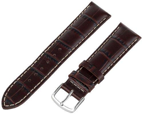 Hadley-Roma Men's MSM834RB-200 20-mm Brown Genuine Italian Calfskin Leather Watch Strap