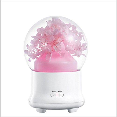 CFZHANG Ewige Blumen Kristall Aromatherapie Luftbefeuchter Creative USB Plug Luftreiniger Bunte Nachtlicht Ornamente , the eternal pink rust cone