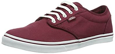 Vans W Atwood Low (Canvas), Womens Hi-Top, Red (Burgundy/White), 34.5 EU, 2.5 UK