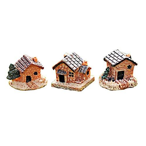 Miniatur Landschaft Stone House Harz House Dekorationen für Haus und Garten DIY Mini Craft Cottage DIY Puppenhaus DIY Handwerk Harz Dekoration (Zufällig)