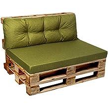 Garden Factory Cojines para sofá-palé europalé, Cojin de Asiento, Cojin de Respaldo