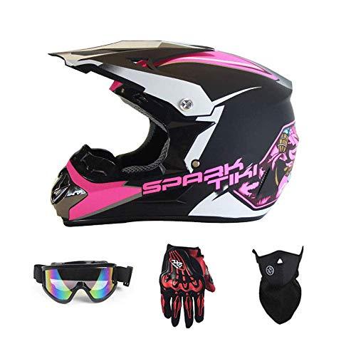 YYCC-helmet Fast Drop DH Off-Road-Motorrad AM Mountainbike Vollhelm Reithelm, Rennhelm Sicherheit Sicherheit Helm Knight Off-Road-Helm kühlen Off-Road-Helm,XXL