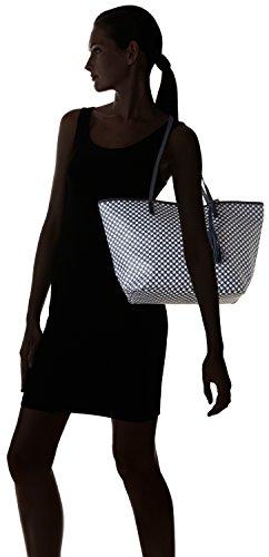 Loxwood - Sac Shopper En Toile Enduite, Borse a Tracolla Donna Blu ( Blue)